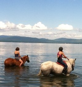 Max and Iz in Lake Champlain