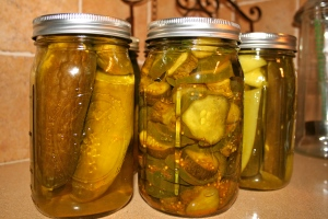 some Dill and B & B pickles