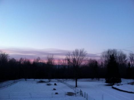 January 24  Sunrise in Shaftsbury