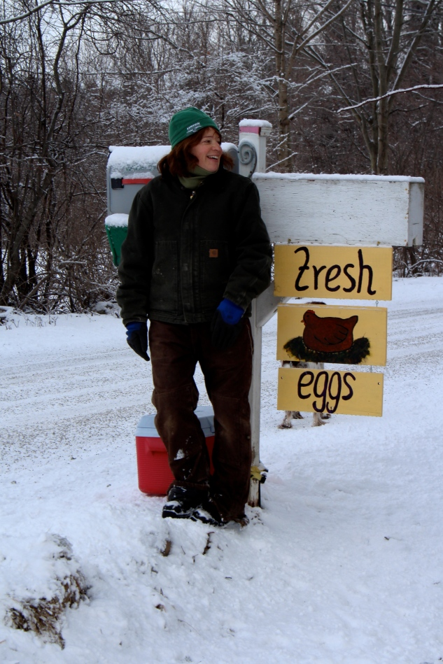 "I stand at the side of the road all day long and yell ""Fresh Eggs!"" (Only yoking, folks!)"