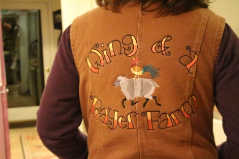 Wow!  It's our logo on a VEST!